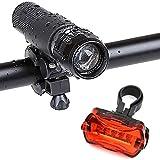 LED-Fahrradbeleuchtung-Ubegood-Fahrradlampe-3-Licht-Modi-Wasserdichte-Lampe-mit-Fahrradlicht-Rcklicht-und-Fahrradhalter-fr-Berg-Radfahren-Camping-und-tglichen-Gebrauch-etc
