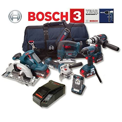 Bosch BAG+ 18 V Professional Heavy Duty 6 Piece Kit (includes 3 x 4.0 Ah Lithium Ion CoolPack Batteries)