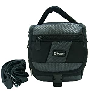 Canon VIXIA HF G20 Camcorder Case Camcorder and Digital Camera Case - Carry Handle & Adjustable Shoulder Strap - Black / Grey - Replacement by Synergy