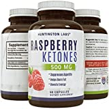 Pure Raspberry Ketones - Weight Loss and Energy Supplement - Natural Fat Burner, Highest Quality Raspberry Extract ★ Appetite Suppressant ★ Recommended By Experts, USA Made By Huntington Labs