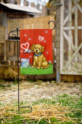 Toland Home Garden Painter Puppy 12 5 X 18 Inch Decorative