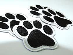 Puppy Dog animal paw Set for baby -4 Embroidered Iron-On Patches by ONEKOOL