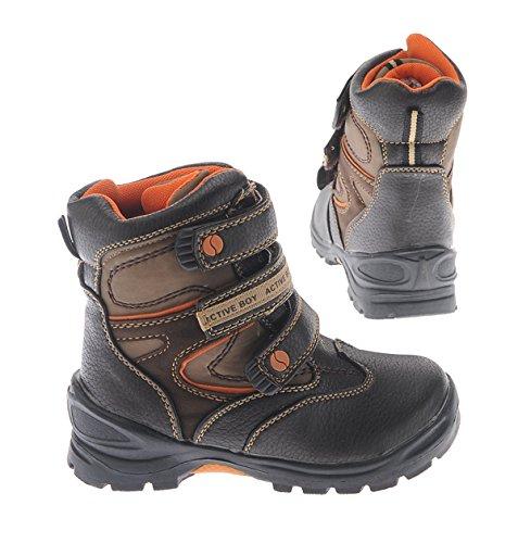 ActiveBoy Schuhe Kinder Winterstiefel d.brown Klett Schnee günstig bestellen