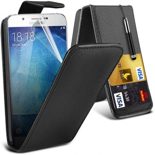 Samsung Galaxy Chat S3350 Leather Flip Case Cover (Black) Plus Free Gift, Screen Protector and a Stylus Pen, Order Now Best Valued Phone Case on Amazon! By FinestPhoneCases (Samsung S3350 compare prices)