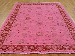 6 x 9 HAND KNOTTED OVERDYED PINK PESHAWAR ORIENTAL RUG G22677