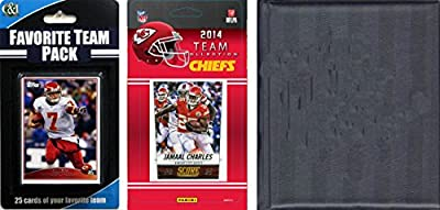 NFL Kansas City Chiefs Licensed Trading Card Team Set with Storage Album