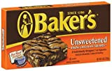 Bakers Unsweetened Chocolate, 8-Ounce Boxes (Pack of 4)