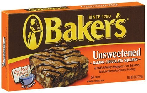 Buy Baker's Unsweetened Chocolate, 8-Ounce Boxes (Pack of 12) (Baker's, Health & Personal Care, Products, Food & Snacks, Baking Supplies, Baking Chocolate)