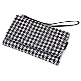 Kroo® Houndstooth Cell Phone Clutch Universal Fit for Motorola Droid Razr XT912 Multiple Colors Available