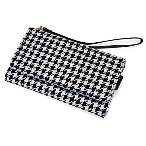 Kroo® Houndstooth Cell Phone Clutch Universal Fit For Blu Dash 4.5 Multiple Colors Available front-1076347