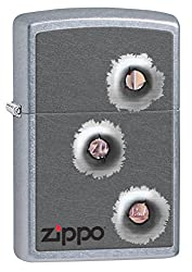 Zippo Bullet Holes Pocket Lighter, Street Chrome