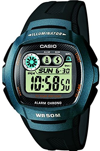 Casio W-210-1B - Sports Watch Unisex - Quartz Digital - LCD display - black resin strap