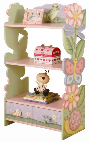 picture Teamson Kids Girls Bookshelf/Bookcase - Magic Garden Room Collection