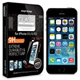Spigen iPhone 5S / 5C / 5 Screen Protector Glass Slim [GLAS.tR SLIM] (0.4mm) Rounded Edges Glass Screen Protector Anti Chip for the NEW iPhone 5S and iPhone 5C and iPhone 5 (SGP10111)