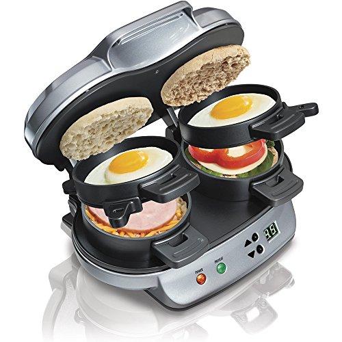 Hamilton Beach® Dual Breakfast Sandwich Maker SKU R2621 Factory Recertified (Breakfast Electric Sandwich Maker compare prices)