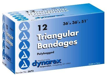 Dynarex 3672 Triangular Bandage 36x36x51 12/Box