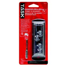 Task Tools T56731 Diamond Drill Bit with Water Cooling System and Bit Guide, 3/16-Inch
