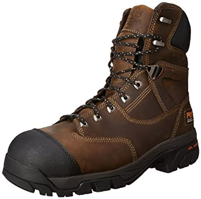 Timberland PRO Men's Helix 8 Inch Insulated Comp Toe Work Boot,Brown,7 M US