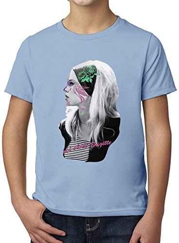 Brigitte Bardot Floral Design Ultimate Youth Fashion T-Shirt by True Fans Apparel - 100% Organic, Hypoallergenic Cotton- Casual Wear- Unisex Design - Soft Material 3-4 years