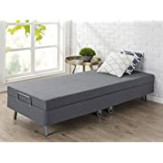 "Zinus Memory Foam Resort Folding Guest Bed with Wheels, Narrow Twin/30"" x 75"""
