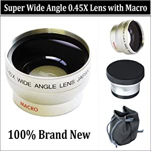 WIDE ANGLE MACRO LENS for the Sony Dcr-dvd650 Dvd850 Dvd910 Dvd610 Dvd710 Dvd810