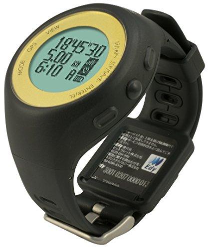 [アレス] ARES GPS腕時計 ハイエンドモデル Edy・心拍計付き ブラックxゴールド AR-2120GLEC