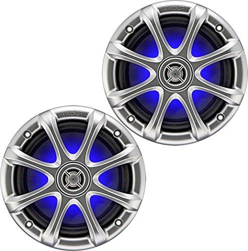 1-Pair (2-Speakers) Kicker 09KM6130LED KM6130LED KM6130-LED Illuminated Light Lighted Marine 6