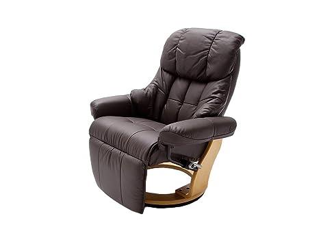 Relax Sessel Calgary mit Fußstutze von Confortevoli Fernsehsessel Dunkelbraun