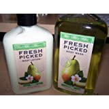 2 Piece Bath & Body Works Fresh Picked Pears Body Lotion & Body Wash/ Shower Gel Set (Fresh Picked Pears)