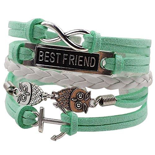 D'amelie Best Friend Eule Armband Schmuck Türkis grün