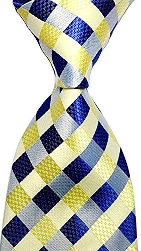 scott-alone-new-classic-yellow-dark-blue-gray-100-new-jacquard-woven-silk-mens-tie-necktie