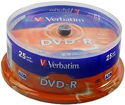 Verbatim 43522 - DVD-R (pack 25 unidades), color plateado