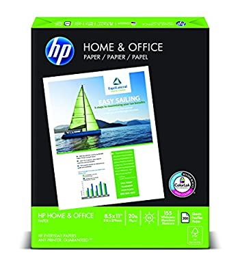 HP Paper, Home & Office Paper Poly Wrap, 20lb, 8.5 x 11, Letter, 92 Bright, 300 Sheet / 1 Ream (200300R) Made In The USA