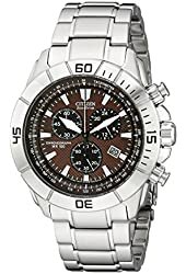 Citizen Men's AT0810-55X Stainless Steel Eco-Drive Watch with Brown Dial