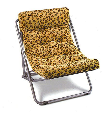 Padded Sling Chair - Leopard Print