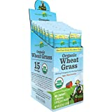Amazing Grass Organic Wheat Grass, Box Of 15 Individual Servings, 0.28 Ounces