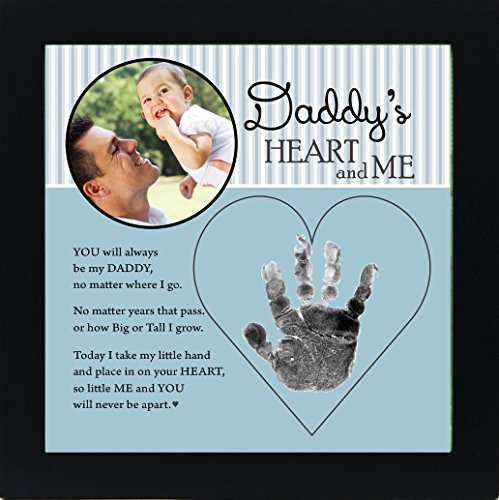 buy Baby Child Keepsake Handprint Frame with Poetry - Mommy, Daddy, Grandma or Grandpa (Daddy) for sale