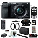 Sony NEX-6 16.1MP Compact Interchangeable Lens w/ 3″ LED monitor Digital camera in Black w/ 16-50mm energy Zoom Lens & 55-210MM Nex system Zoom Lens + 32GB accessory equipment reviews