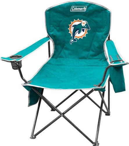Miami Dolphins Coleman XL Cooler Quad Chair at Amazon.com