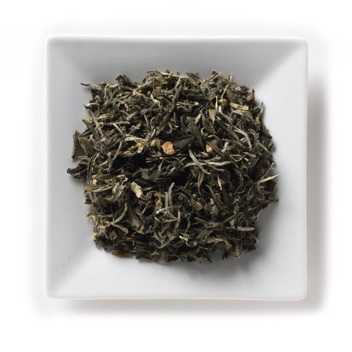 Mahamosa Tangerine White Tea (Bai Mu Dan) 8 Oz, White Tea Loose Leaf (Looseleaf) Blend (Pai Mu Tan Tea, Bai Mudan Tea)(With Orange Peels, Marigolds, Orange Tangerine Flavor)