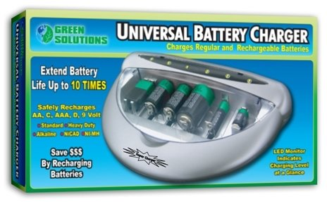 Universal Battery Charger [24 Pieces] *** Product Description: Recharge All Your Batteries. Don'T Throw Them Away! Extend Ordinary, Alkaline And Nicad Batteries Life Up To 10X. Has 6 Charging Bays Featuring An Led Monitor Indicating Battery Statu ***
