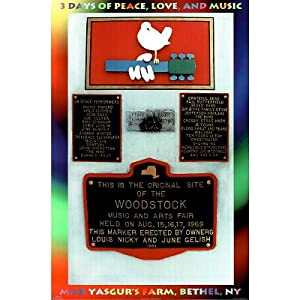 (24x36) WOODSTOCK concert MONUMENT Peace Love Music 1969 Poster