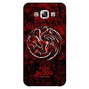 Jugaaduu Game Of Thrones GOT House Targaryen Back Cover Case For Samsung Galaxy A7