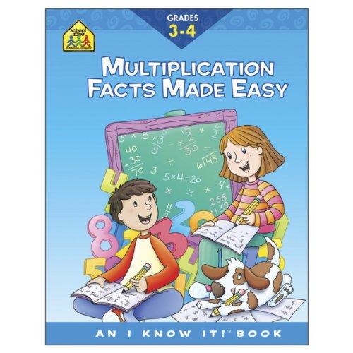 School Zone Curriculum Workbooks, Multiplication Facts Grades 3-4 - 1