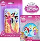 Disney Night Light and Switch Plate Cover Set (Disney Princess)