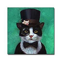 Tuxedo Cat by Lucia Heffernan Premium Gallery-Wrapped Canvas Giclee Art (Ready-to-Hang)