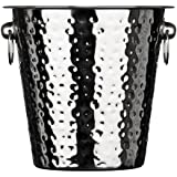 Premier Housewares Champagne Bucket - Hammered Stainless Steel