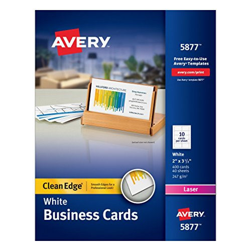 Avery laser perforated business card a8 2quot x 35 for Avery laser business cards
