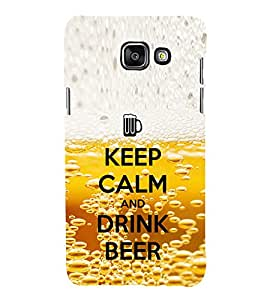 EPICCASE Keep beer and calm Mobile Back Case Cover For Samsung Galaxy A3 (2016) (Designer Case)