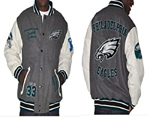 NFL Philadelphia EAGLES Varsity Jacket with Leather Sleeves~ 2XL by G-III Sports